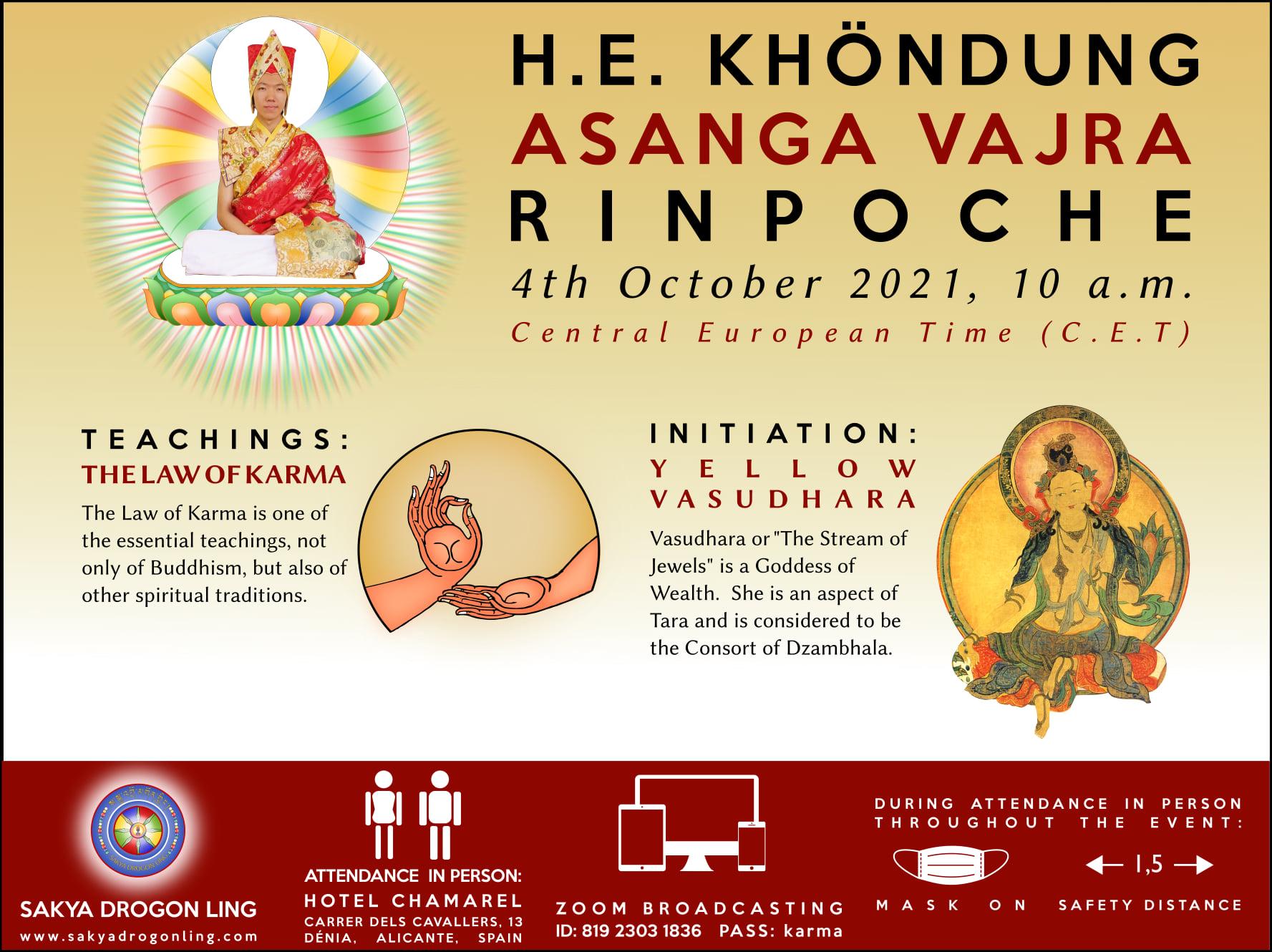 H. E. ASANGA VAJRA RINPOCHE at Sakya Drogon Ling - EN. ES. FR. IT