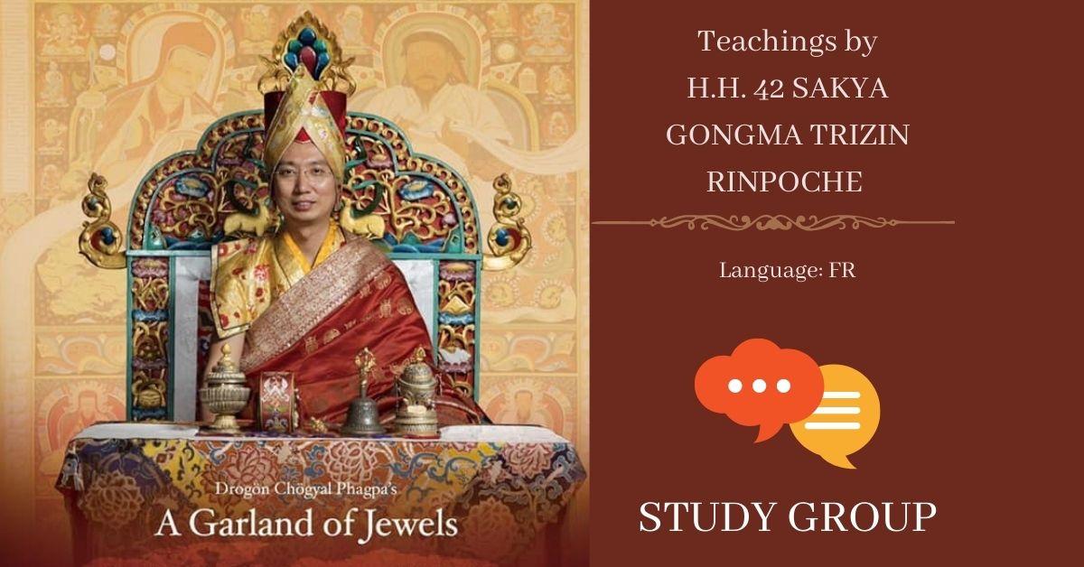 KUTTOLSHEIM FR -LA GUIRLANDE DE JOYAUX - H. H. 42 Sakya Gongma Trizin Rinpoche